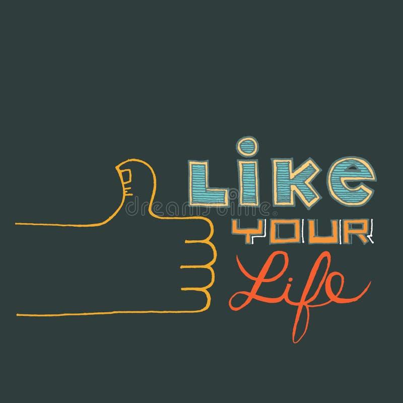 Wie Ihr Leben lizenzfreie abbildung