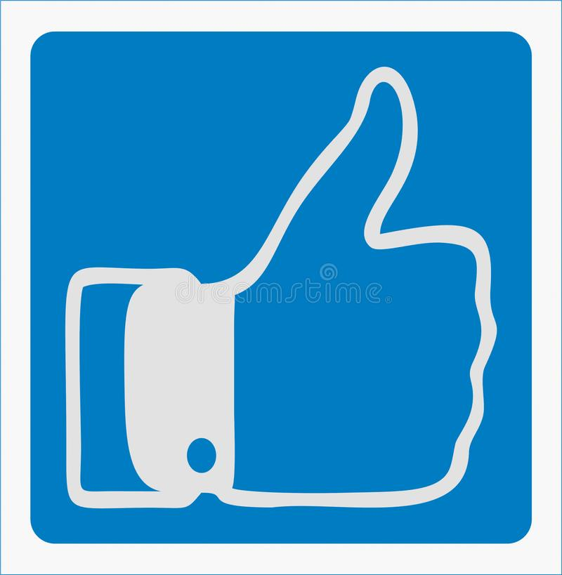 Wie Ikone auf sozialen Netzwerken lizenzfreies stockbild