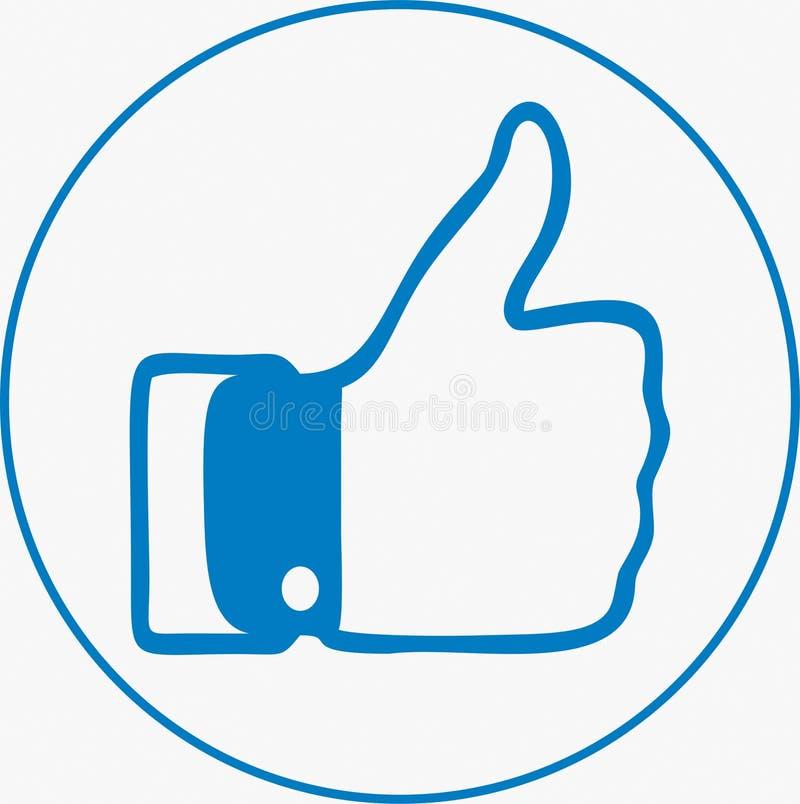 Wie Ikone auf sozialen Netzwerken lizenzfreie stockbilder