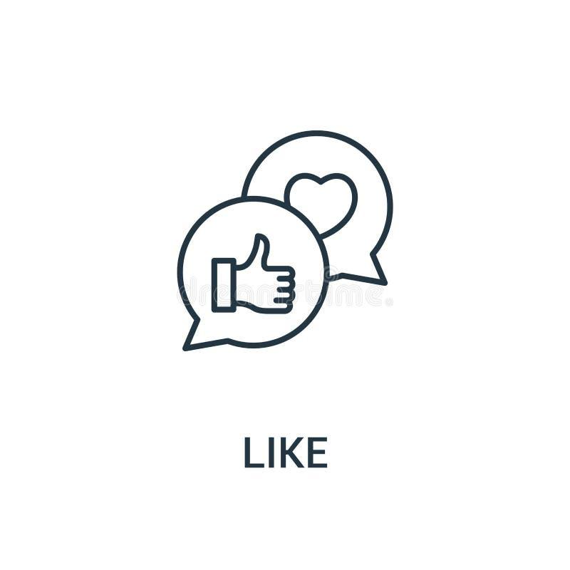wie Ikonenvektor von der Anzeigensammlung Dünne Linie wie Entwurfsikonen-Vektorillustration Lineares Symbol für Gebrauch auf Netz stock abbildung