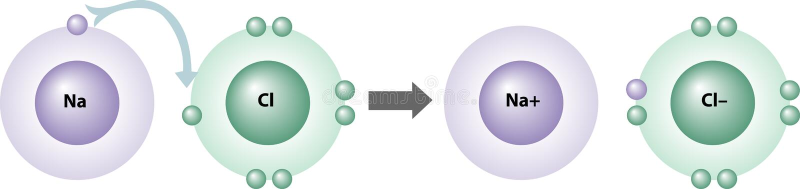 Wie Ionenmittel gebildet werden vektor abbildung