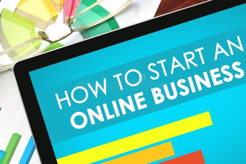 Wie man ein on-line-Geschäft beginnt stockfotografie