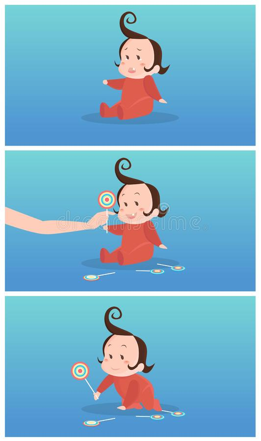 Wie man eine schreiende Babyillustration stoppt vektor abbildung