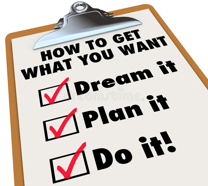 Wie man erhält, was Sie Klemmbrett-Checkliste wünschen