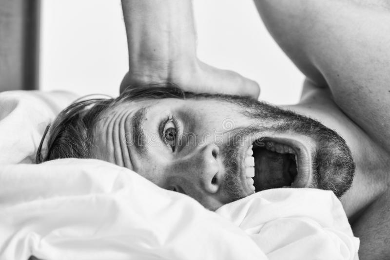 Wie man frisch in das Morgengef?hl aufsteht Sp?ter Vormittag verschlafen Morgenroutinespitzen, zum sich gut den ganzen Tag zu f?h lizenzfreie stockfotografie