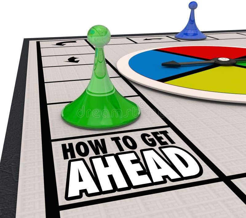 Wie man voran Brettspiel-Fortschritts-Karriere sich bewegen Sie vorwärts erhält vektor abbildung