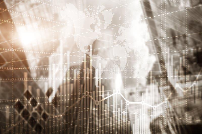 Wie?owa mieszany medialny dwoisty ujawnienie nowoczesne miasto Wzrosta gospodarczego wykresu mapa ilustracji