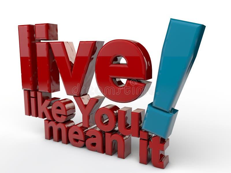 Wie Sie leben Durchschnitt es stock abbildung