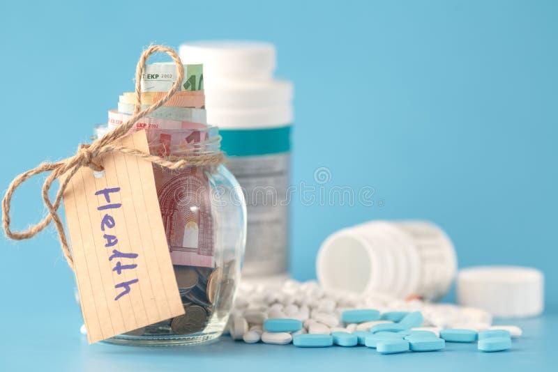 Wie viel Kosten Gesundheitswesen stockbild