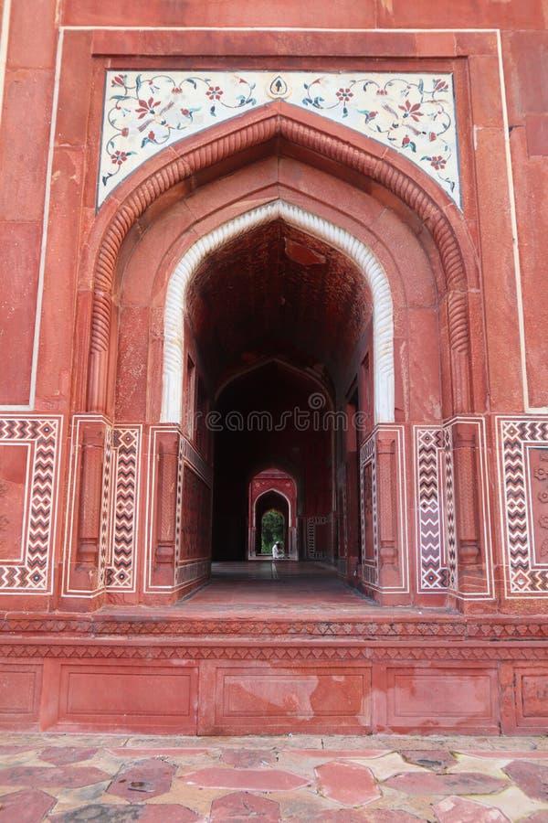 ?wie?y i czysty widok Taj Mahal przy zmierzchem, Agra, Uttar Pradesh, India - wizerunek fotografia royalty free