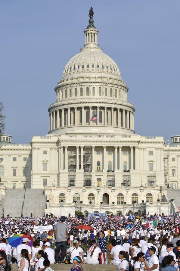 Wiec dla imigracyjnej reformy obraz royalty free