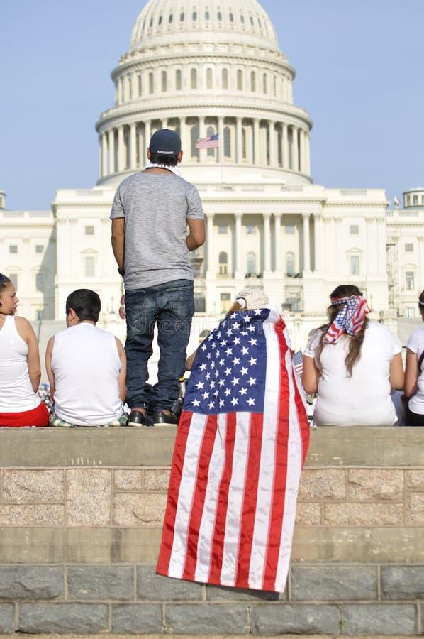 Wiec dla imigracyjnej reformy zdjęcia royalty free