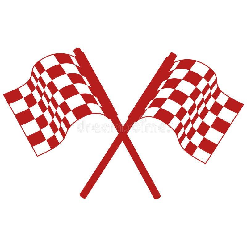 Wiec flaga odosobniona ikona royalty ilustracja