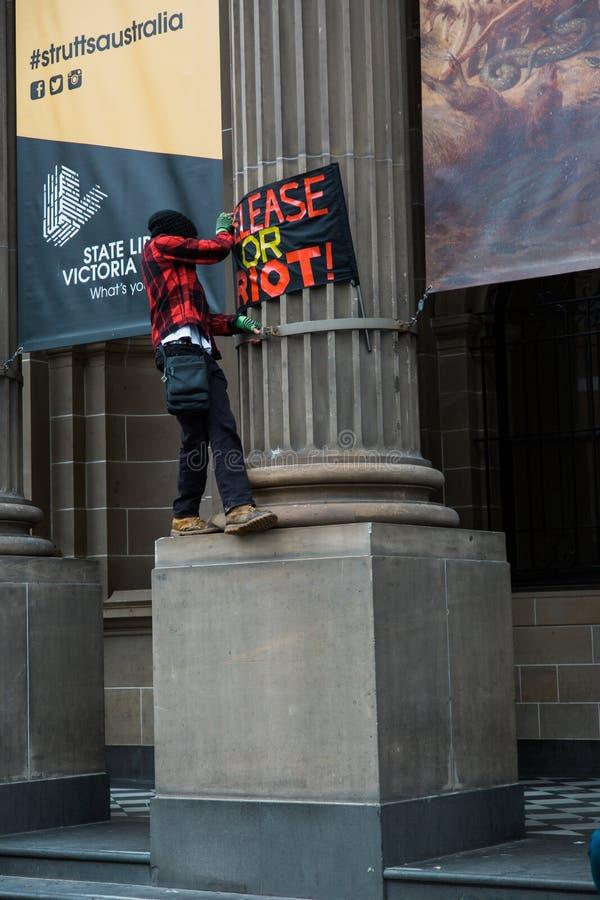 Wiec Przeciw dziecko torturze & zatrzymaniu fotografia stock