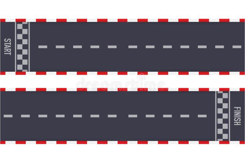 Wiec ras linii szlakowy lub drogowy ocechowanie Samochodowy lub karting drogowy ?ciga? si? wektorowy t?o r?wnie? zwr?ci? corel il ilustracji