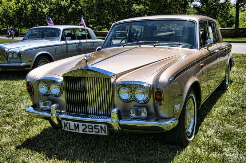 Wiec Rolls Royce i inni luksusowi samochody w Asheville Pólnocna Karolina usa zdjęcia royalty free