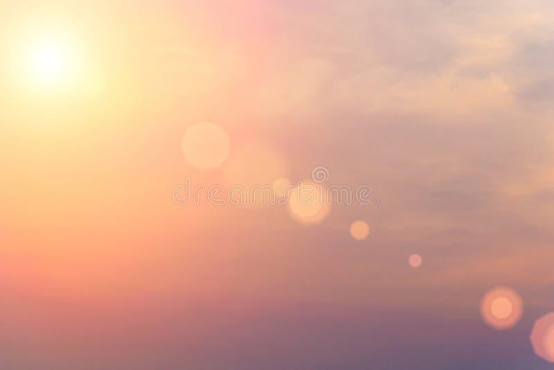 Wieczór światła słonecznego pomarańczowa gorąca strefa royalty ilustracja