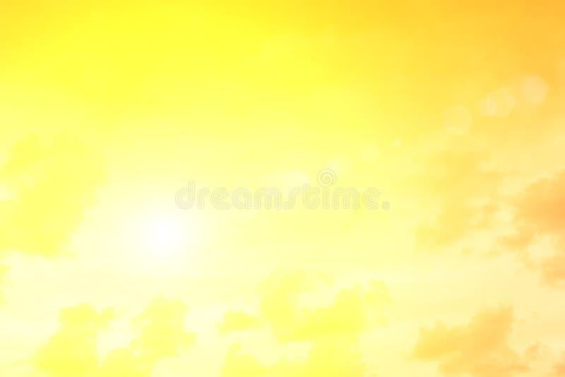 Wieczór światła słonecznego pomarańczowa gorąca strefa ilustracja wektor