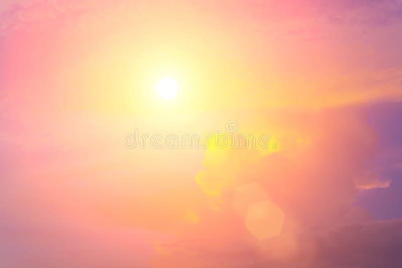 Wieczór światła słonecznego pomarańczowa gorąca strefa ilustracji