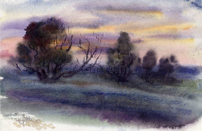 wieczór ilustracji