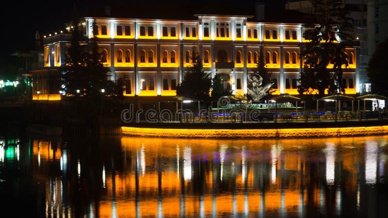 Wieczór dla ten budynku fotografia royalty free