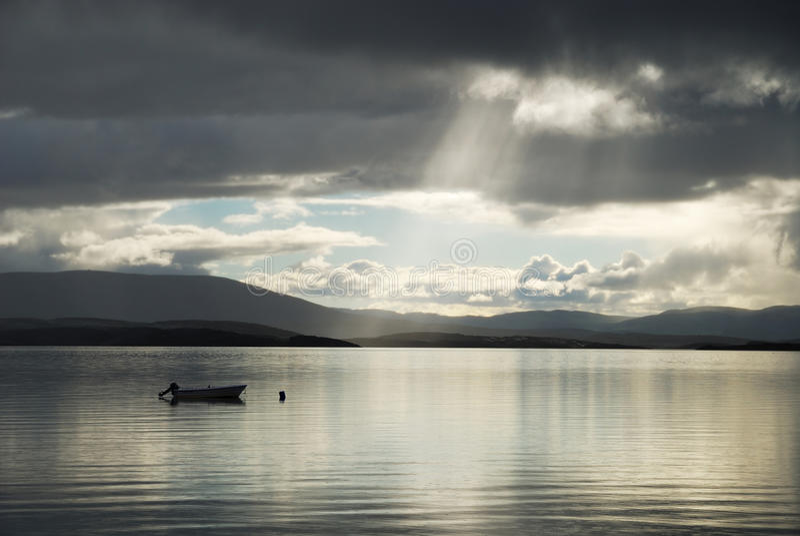 wieczór fjord norweski lato widok obraz royalty free