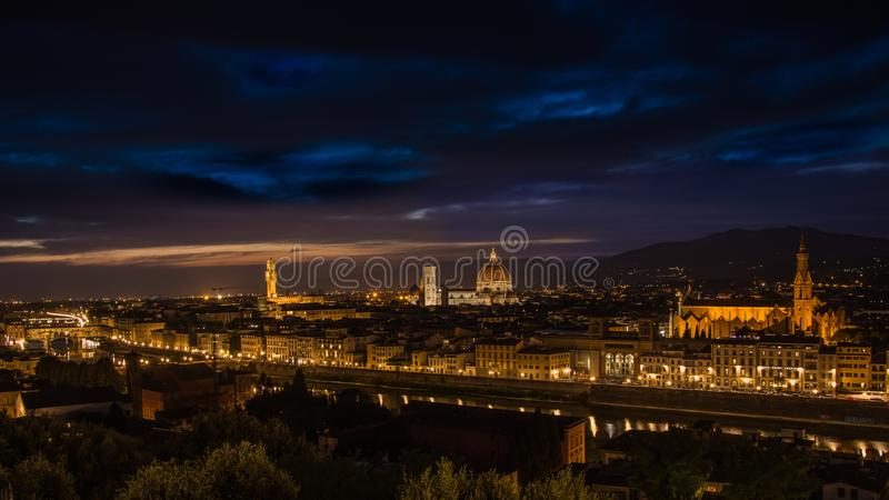 wieczór Florence zdjęcia royalty free