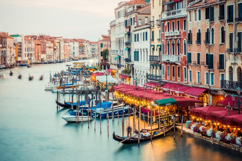 wieczór Italy Venice obrazy royalty free