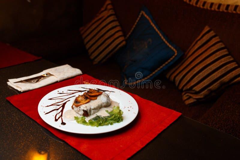 Wieczór jedzenie zdjęcia royalty free