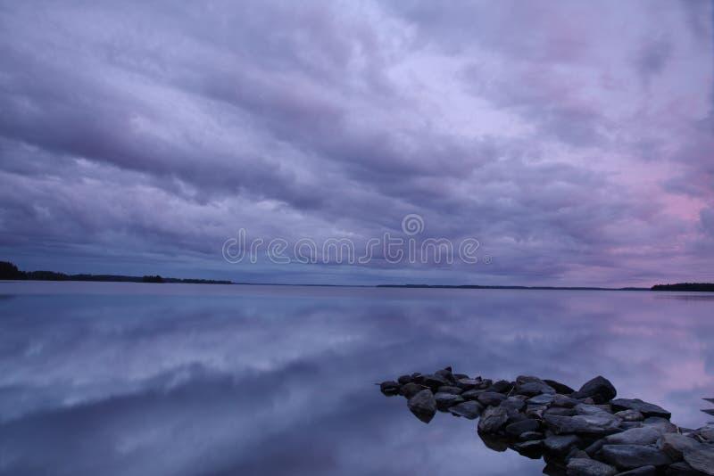Wieczór Jezioro Bezpłatna Fotografia Stock
