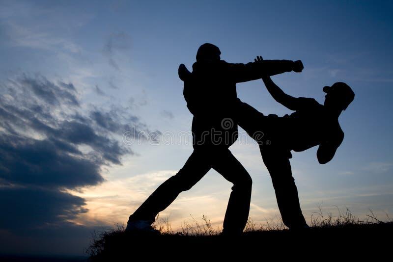 wieczór karate szkolenie zdjęcie royalty free