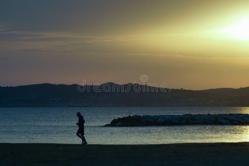 Wieczór na plaży obraz royalty free