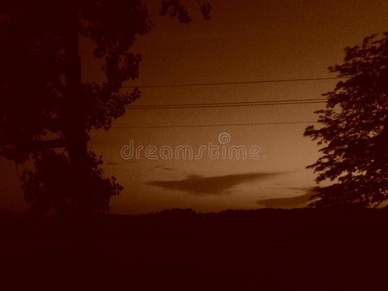 wieczór nieb nieba tekstura fotografia stock