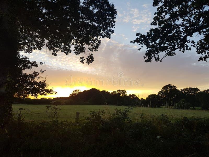 wieczór nieb nieba tekstura obrazy stock