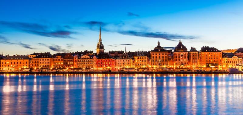 Wieczór panorama Sztokholm, Szwecja zdjęcie stock