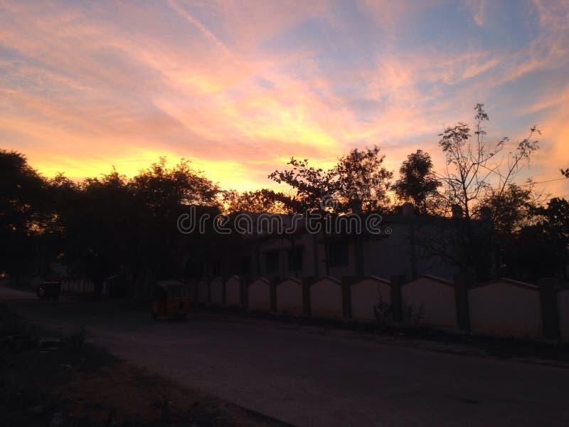 wieczór piękny niebo zdjęcie royalty free