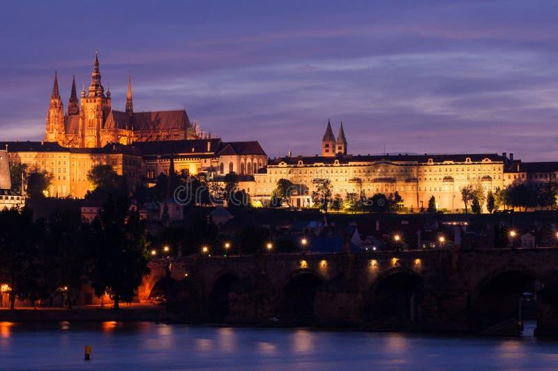 Wieczór Praga zdjęcia royalty free