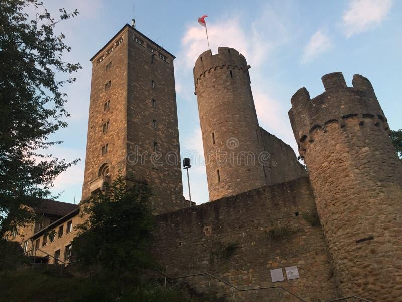 wieczór przy heppenheim kasztelem zdjęcia royalty free
