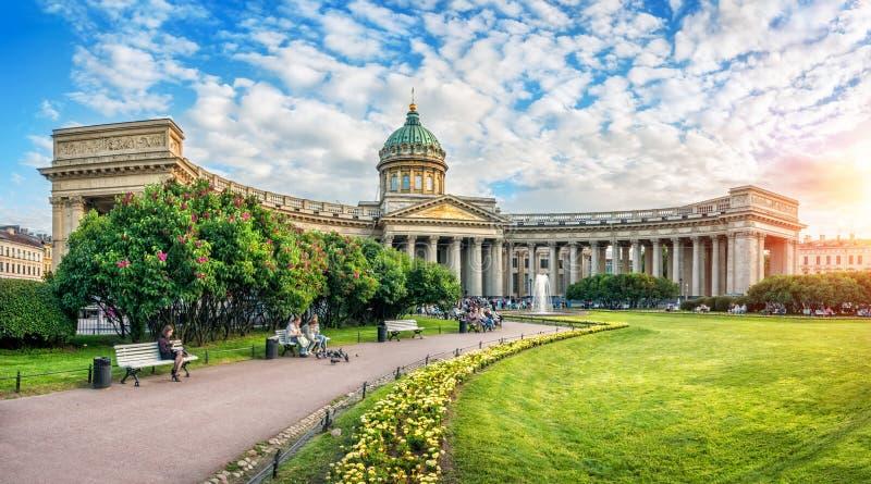 wieczór przy Kazan katedrą obrazy royalty free