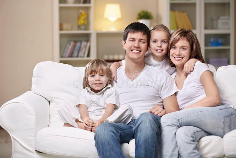 wieczór rodzina zdjęcia stock