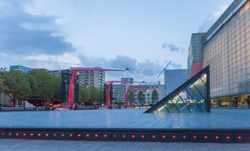 Wieczór Rotterdam, holandie zdjęcia royalty free