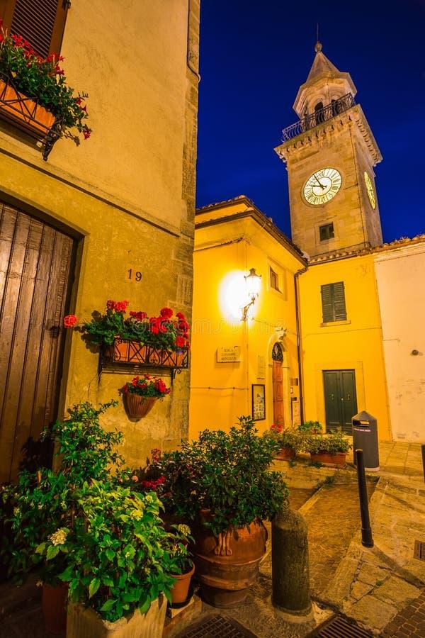 Wieczór ulicy San Marino obrazy stock
