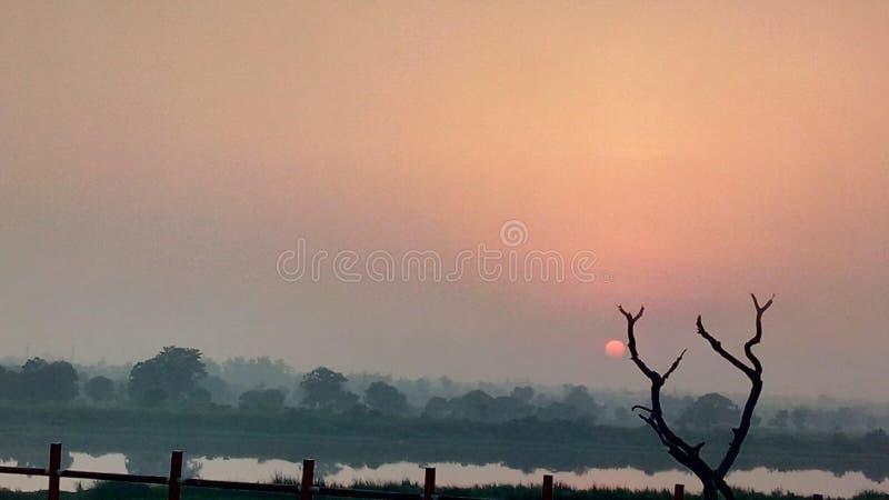 Wieczór w Delhi obrazy stock