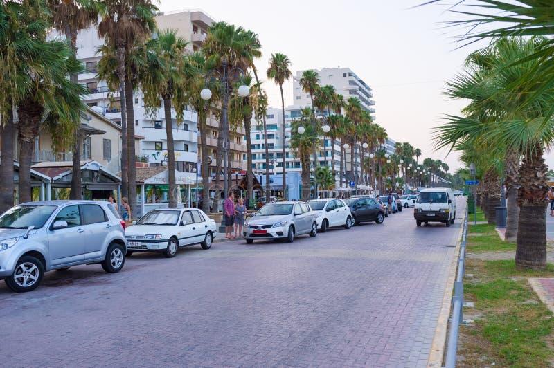 Wieczór w Larnaka zdjęcia royalty free