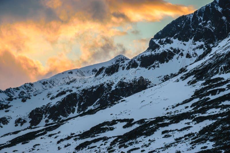 Wieczór w pięć połysk jeziorach dolinnych fotografia royalty free
