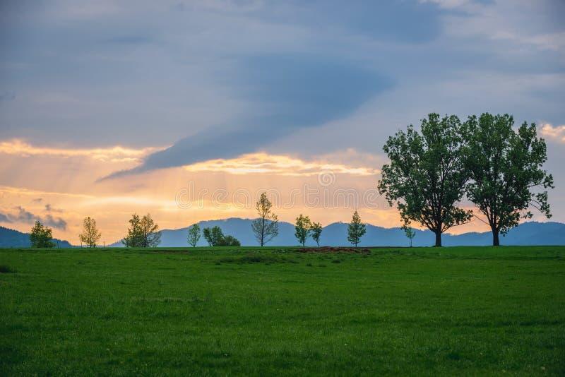 Wieczór w Słowackim raju zdjęcia stock