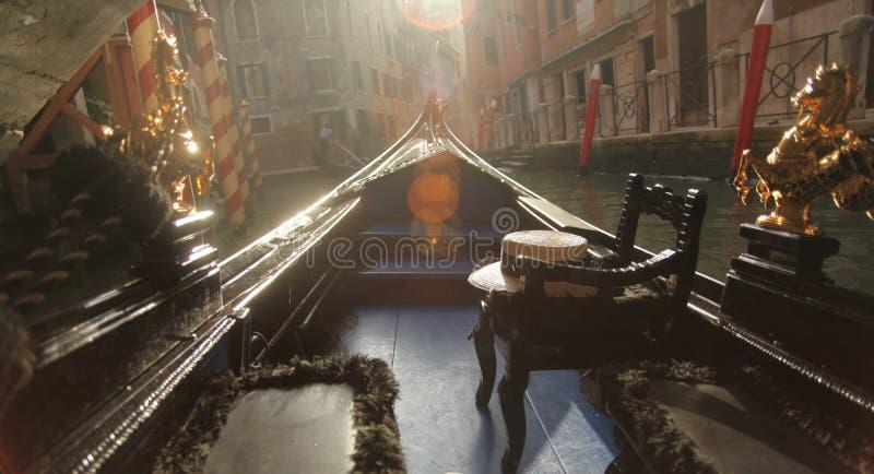Wieczór Wenecja gondoli przejażdżka zdjęcie royalty free