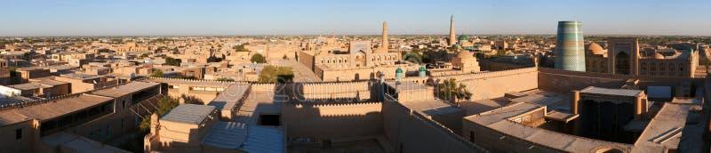 Wieczór widok Khiva fotografia royalty free
