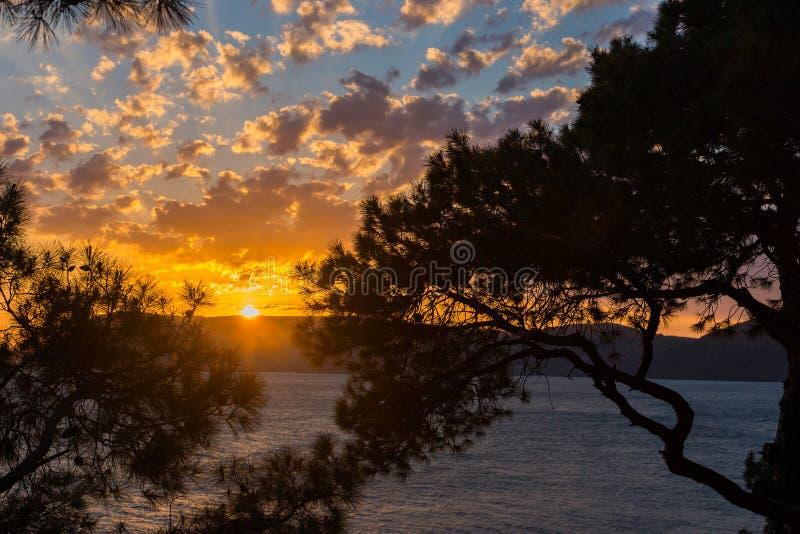 Wieczór widok morze Crimea, Ukraina obraz stock
