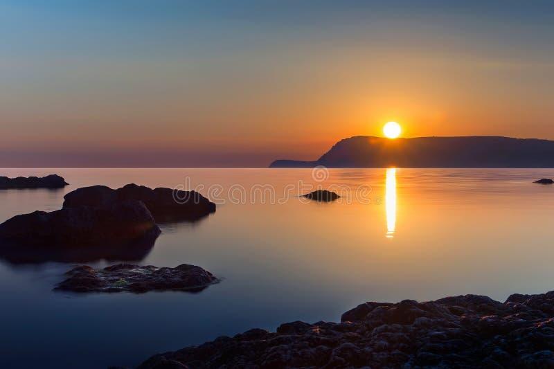 Wieczór widok morze Crimea, Ukraina fotografia stock